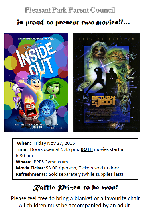Nov 27 Movie night