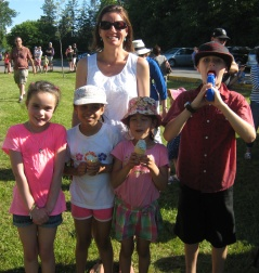 Crystal the lead BBQ organizer with happy kids.