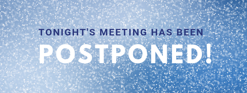 POSTPONED DUE TO WEATHER: Your Parent Council meeting is being moved to Wednesday, January 30